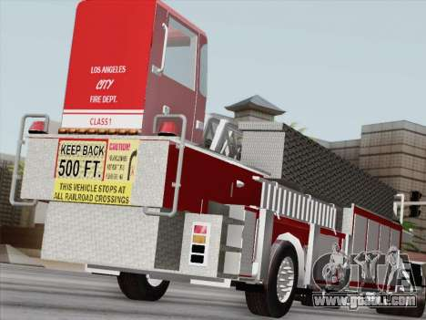 Pierce Arrow XT LAFD Tiller Ladder Trailer for GTA San Andreas left view