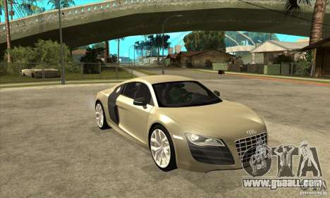 Audi R8 V10 5.2 FSI Quattro for GTA San Andreas back view