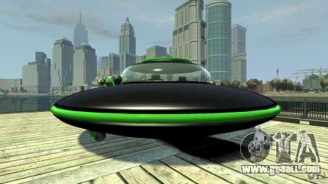 UFO neon ufo green for GTA 4 back left view