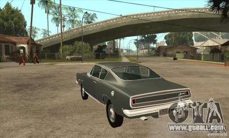 Plymouth Barracuda Formula S 383 1968 for GTA San Andreas back left view
