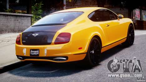 Bentley Continental SS 2010 ASI Gold [EPM] for GTA 4 back left view
