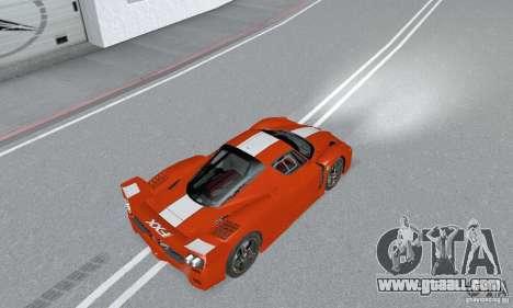Ferrari FXX for GTA San Andreas back left view