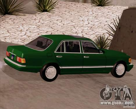 Mercedes-Benz 500SEL for GTA San Andreas left view