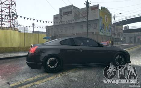Infiniti G37 Coupe Carbon Edition v1.0 for GTA 4 back view