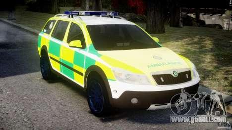 Skoda Octavia Scout Paramedic [ELS] for GTA 4 right view