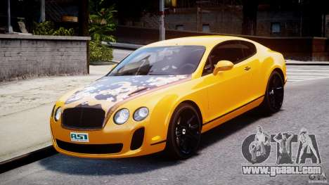 Bentley Continental SS 2010 ASI Gold [EPM] for GTA 4 back view