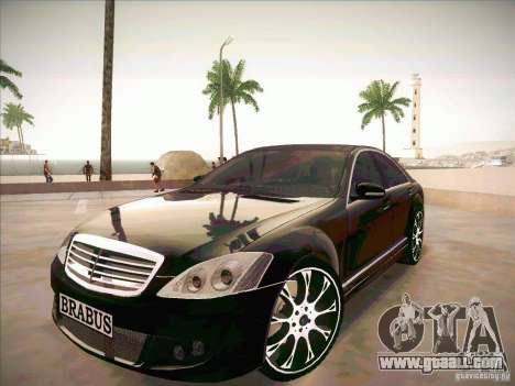 Mercedes-Benz S 500 Brabus Tuning for GTA San Andreas
