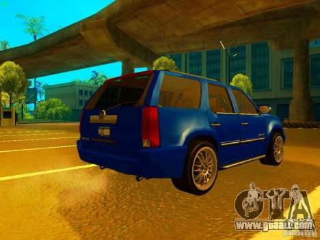 Cadillac Escalade for GTA San Andreas back view