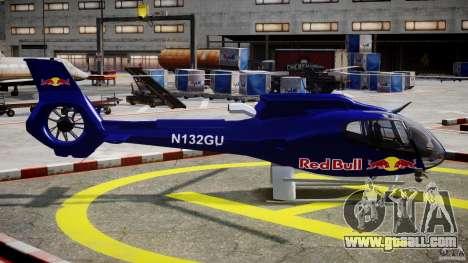 Eurocopter EC130 B4 Red Bull for GTA 4 inner view