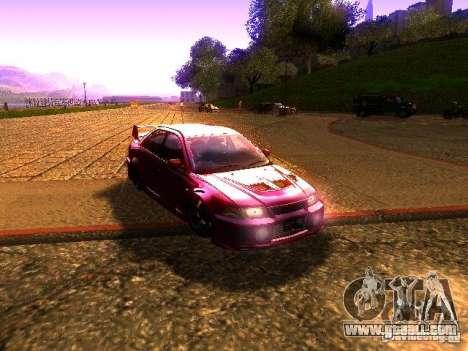 Mitsubishi Lancer Evolution VI GSR 1999 for GTA San Andreas back left view