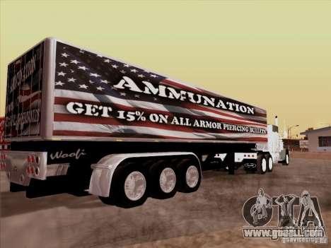 Trailer, Peterbilt 377 for GTA San Andreas left view