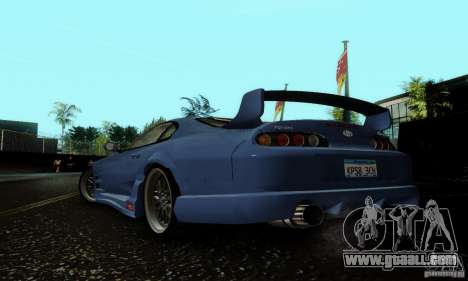 Toyota Supra TRD for GTA San Andreas back left view