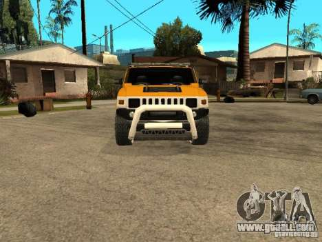 Hummer H2 4x4 diesel for GTA San Andreas left view