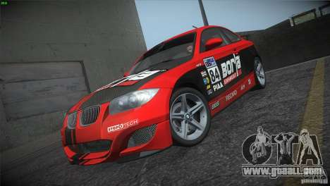 BMW 135i Coupe Road Edition for GTA San Andreas bottom view