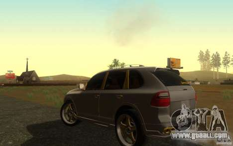 Porsche Cayenne gold for GTA San Andreas back left view