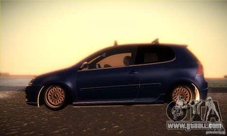 Volkswagen Golf Mk5 GTi for GTA San Andreas left view