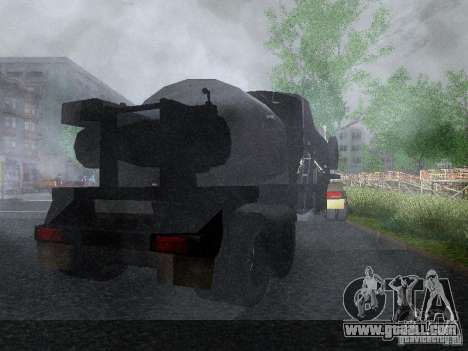 Trailer Armored Mack Fuel Truck Titan for GTA San Andreas right view