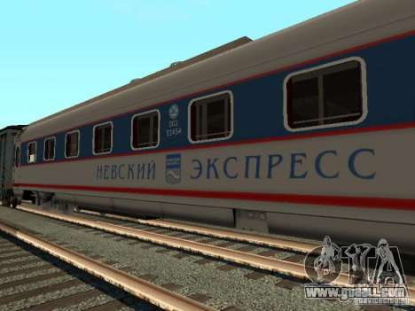Nevsky express for GTA San Andreas left view