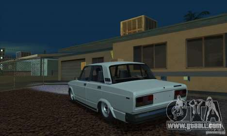 VAZ 2107 Aquarium for GTA San Andreas left view