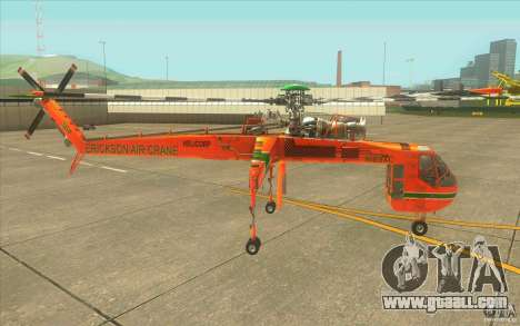Sikorsky Air-Crane S-64E for GTA San Andreas left view