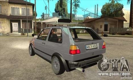 VW Golf Mk2 GTI for GTA San Andreas back left view