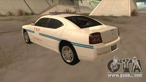 Dodge Charger PNP SAN FIERRO for GTA San Andreas right view