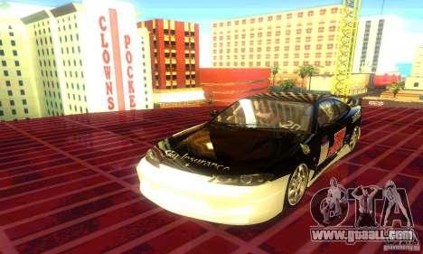Nissan Silvia S15 8998 Edition Tunable for GTA San Andreas back view