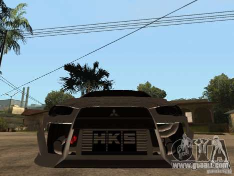 Mitsubishi Lancer Evolution X Drift Spec for GTA San Andreas right view