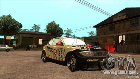 BMW 135i Coupe GP Edition Skin 1 for GTA San Andreas back view
