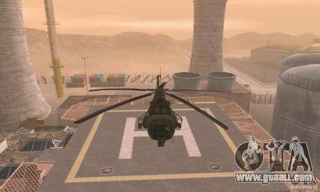 MI-17 for GTA San Andreas back view