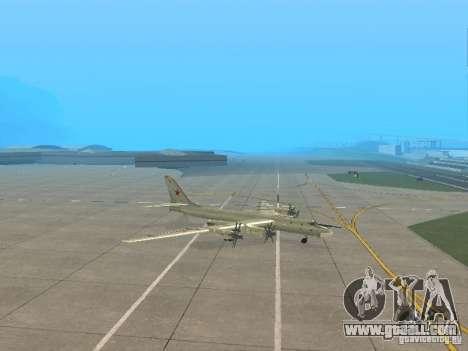 Tu-95 for GTA San Andreas left view
