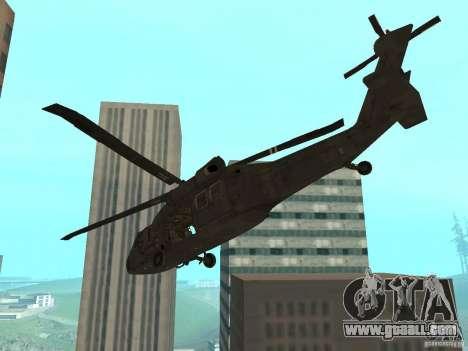 UH-60 Black Hawk for GTA San Andreas left view