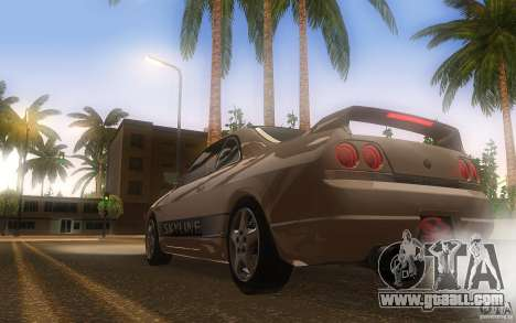 Nissan Skyline R33 GTS25t Stock for GTA San Andreas right view