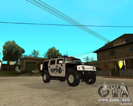 AMG H2 HUMMER SUV SAPD Police for GTA San Andreas back view
