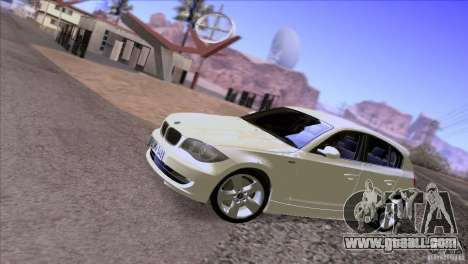 BMW 120i 2009 for GTA San Andreas inner view