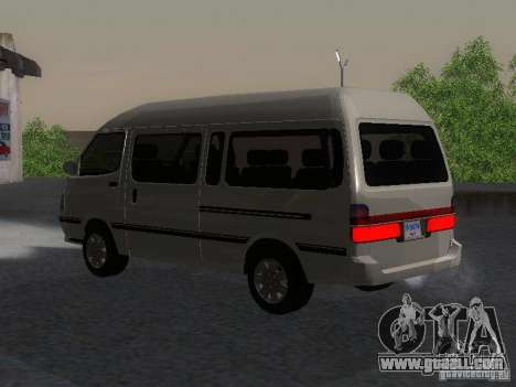 Toyota Hiace Super Custom for GTA San Andreas left view