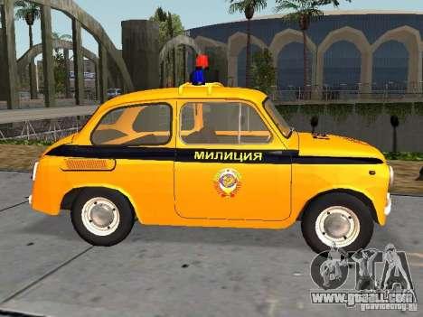 ZAZ-965 Soviet police for GTA San Andreas left view