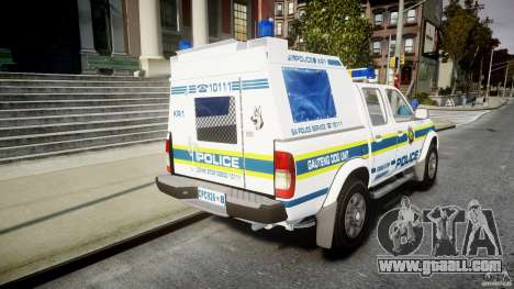Nissan Frontier Essex Police Unit for GTA 4 side view