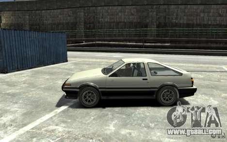 Toyota Sprinter Trueno AE86 for GTA 4 left view
