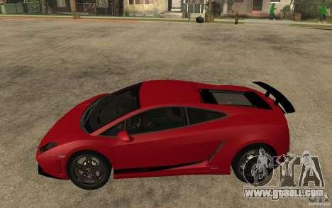 Lamborghini Gallardo LP 570 4 Superleggera for GTA San Andreas left view