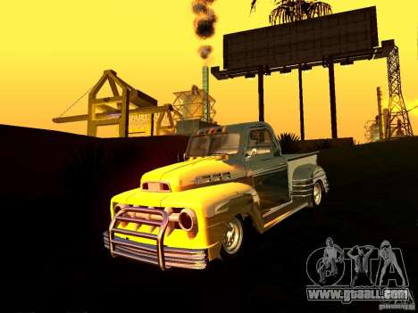 Ford Pick Up Custom 1951 LowRider for GTA San Andreas back view