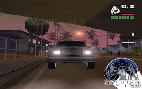 VAZ 2107 Light Tuning for GTA San Andreas back left view