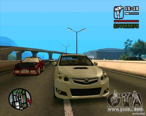 Subaru Legacy 2010 v.2 for GTA San Andreas left view