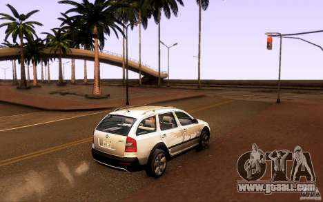 Skoda Octavia Scout for GTA San Andreas left view