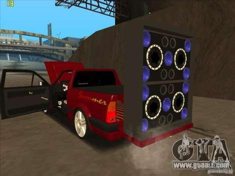 Volkswagen Saveiro Summer for GTA San Andreas right view
