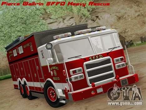 Pierce Walk-in SFFD Heavy Rescue for GTA San Andreas