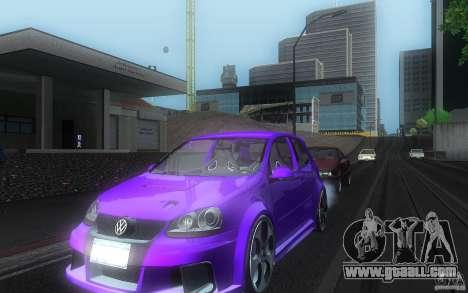 VolksWagen Golf GTI W12 TT Black Revel for GTA San Andreas inner view