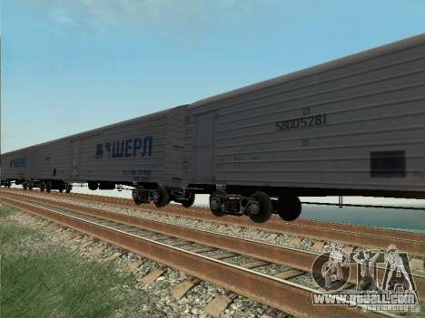 Freight car for GTA San Andreas left view