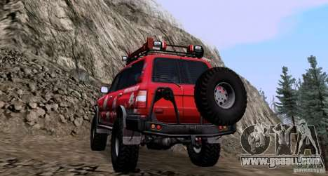 Toyota Land Cruiser 100 Off-Road for GTA San Andreas back left view