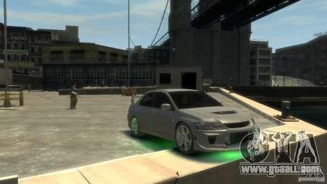 Mitsubishi Lancer EVOLUTION VIII for GTA 4 right view
